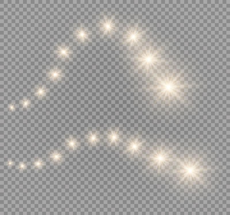 抽象矢量透明闪烁的灯光