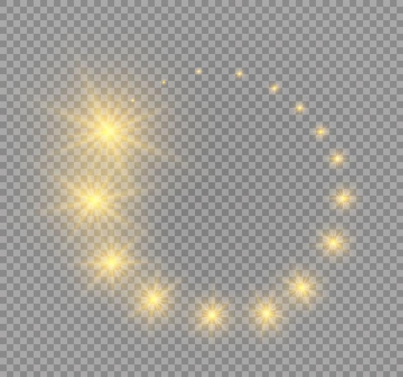 矢量闪烁的星星插图