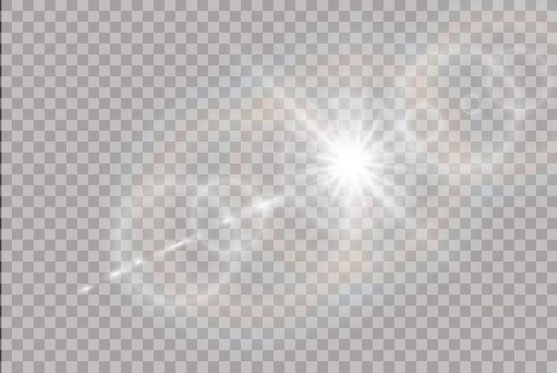 抽象矢量透明特殊阳光效果