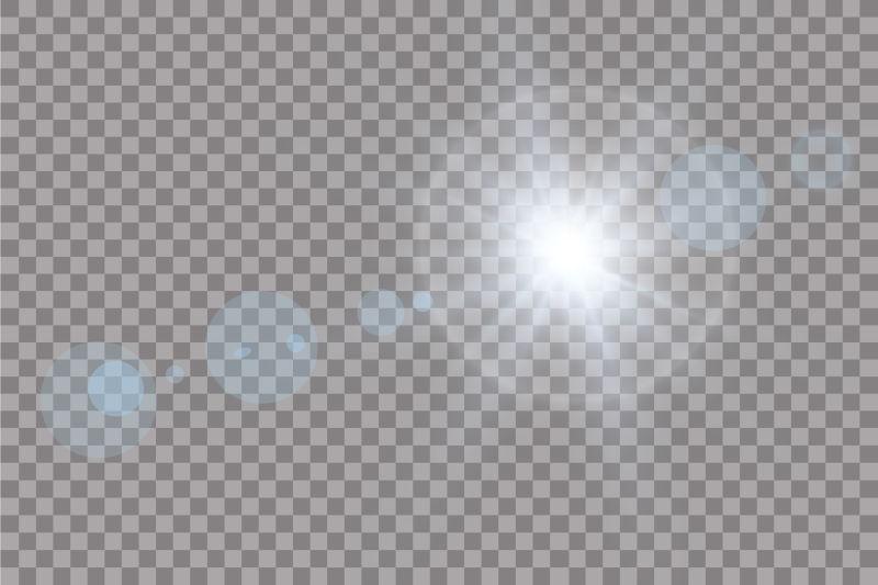 抽象矢量透明阳光光效插图
