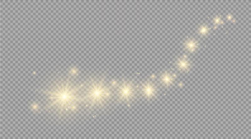 抽象矢量黄色闪烁的光效