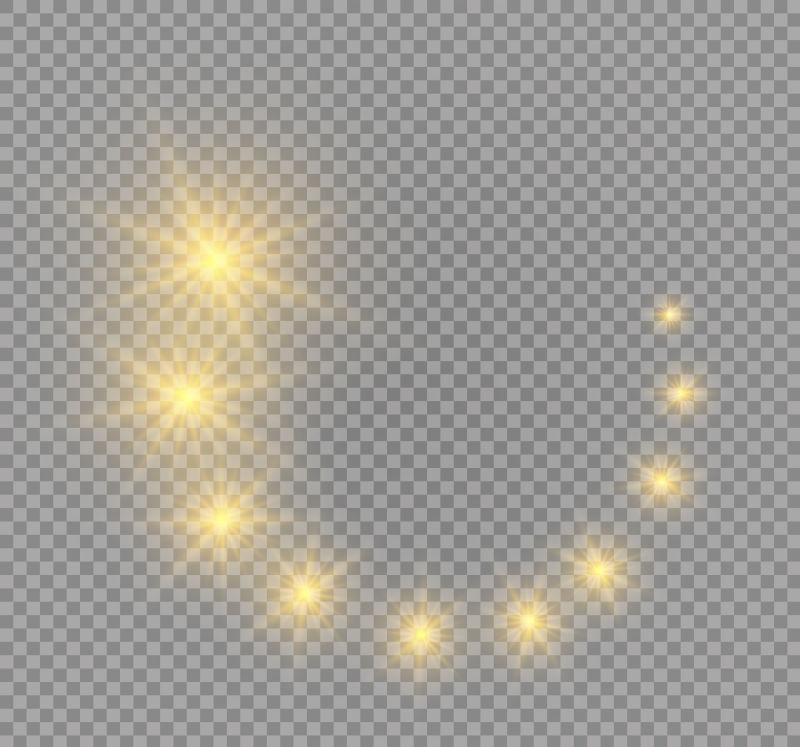 矢量黄色闪烁星星插图