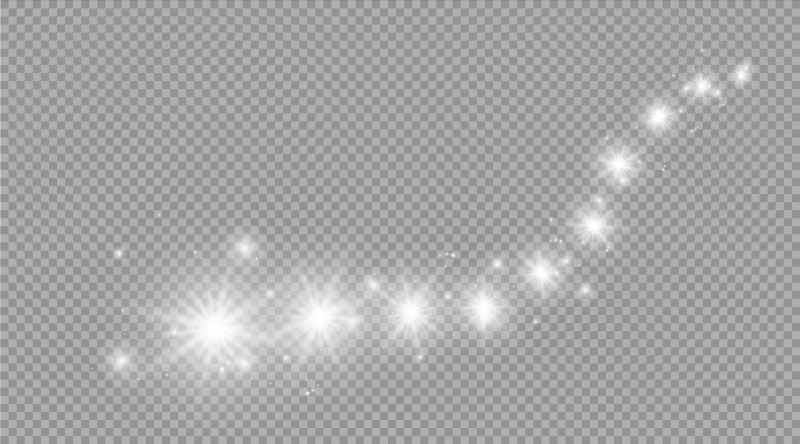 矢量闪烁的星星光芒