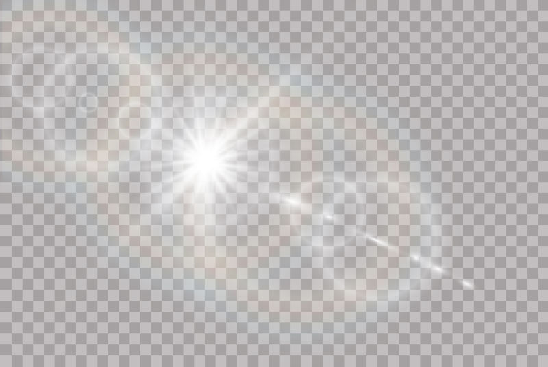 抽象矢量透明阳光光效