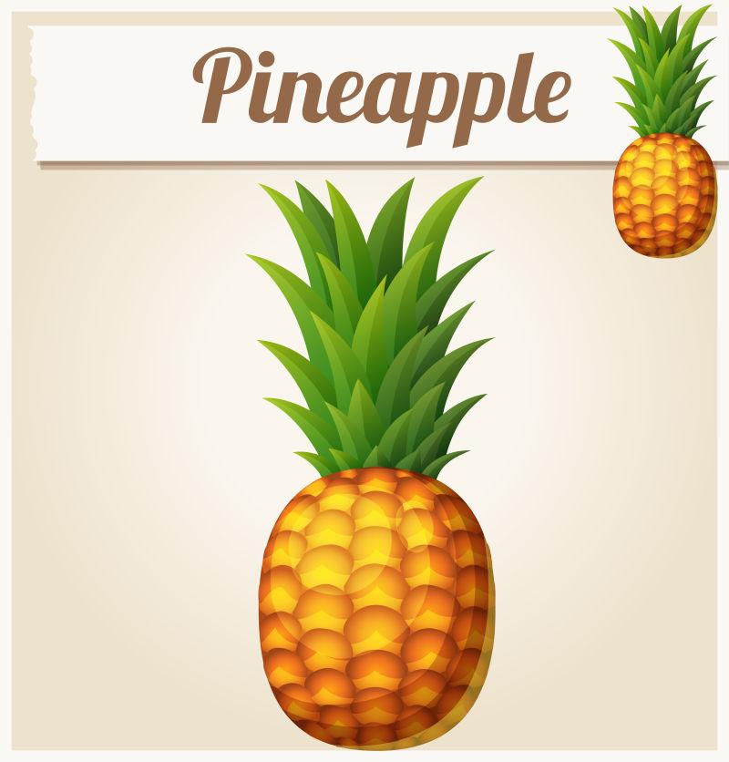 矢量菠萝创意图标设计