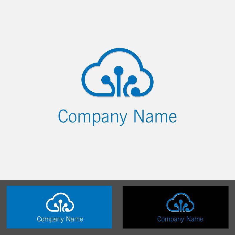 创意矢量云数据标志设计