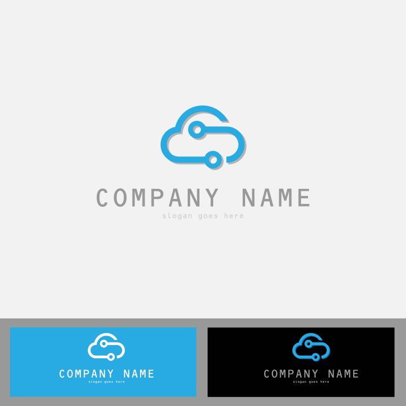 创意云技术矢量标志设计