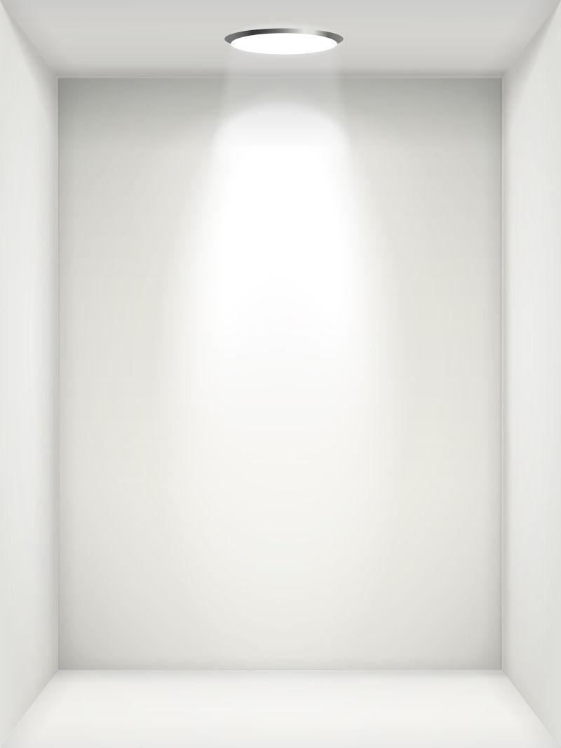 空白壁龛白墙