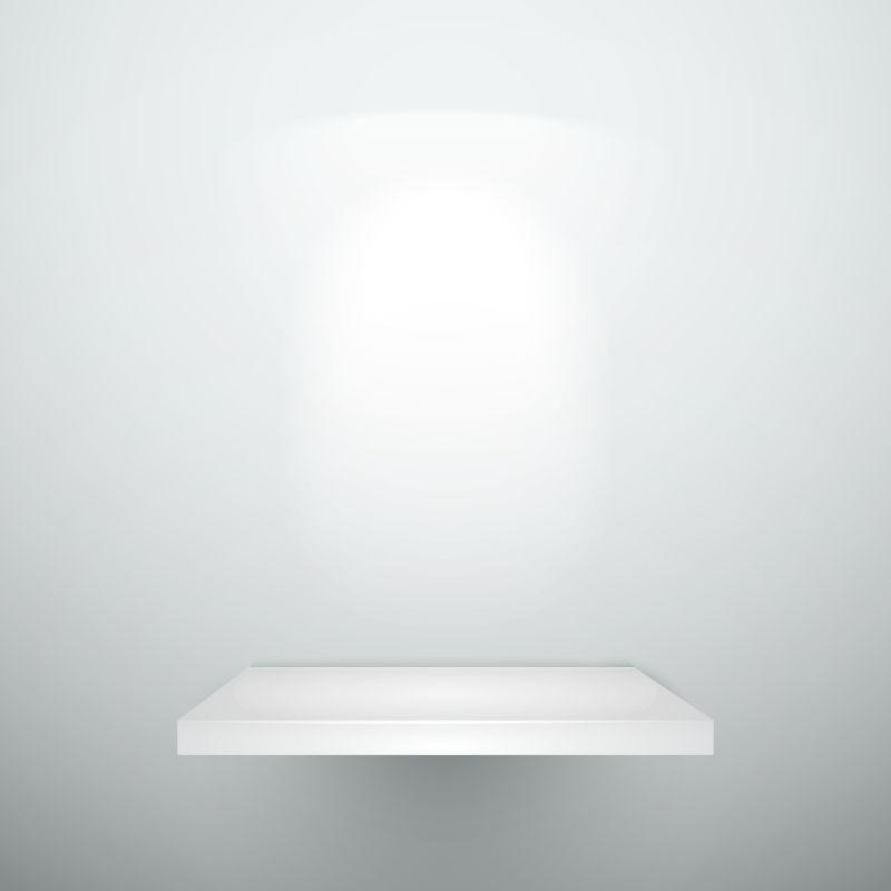 有照明的空白木架