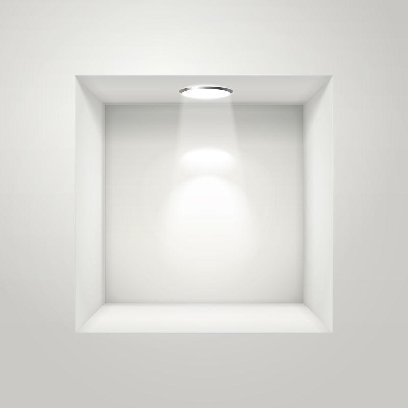 展览馆里的空白壁龛