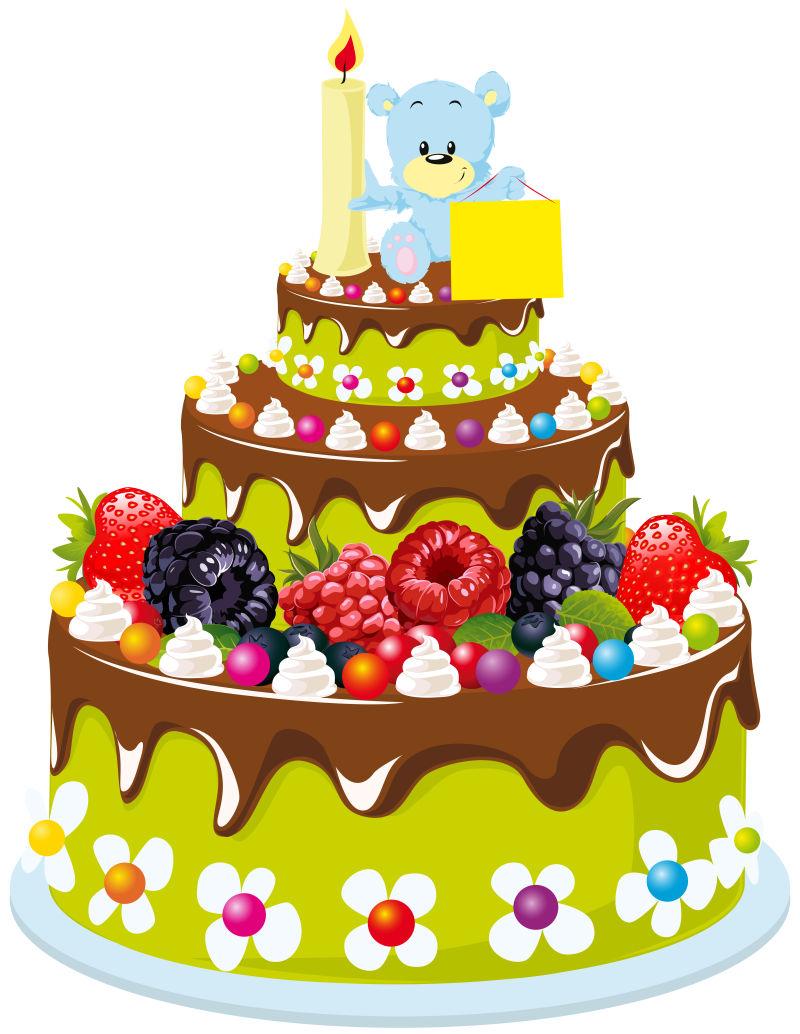 面包标签模板_矢量生日蛋糕贺卡图片-矢量多层生日蛋糕卡通贺卡设计素材-高清 ...