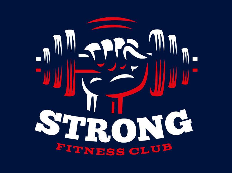创意矢量健身俱乐部的图标设计
