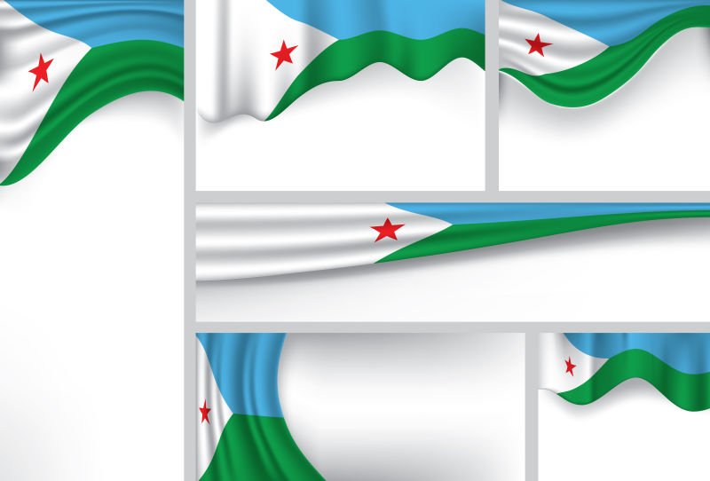 矢量吉布提国旗