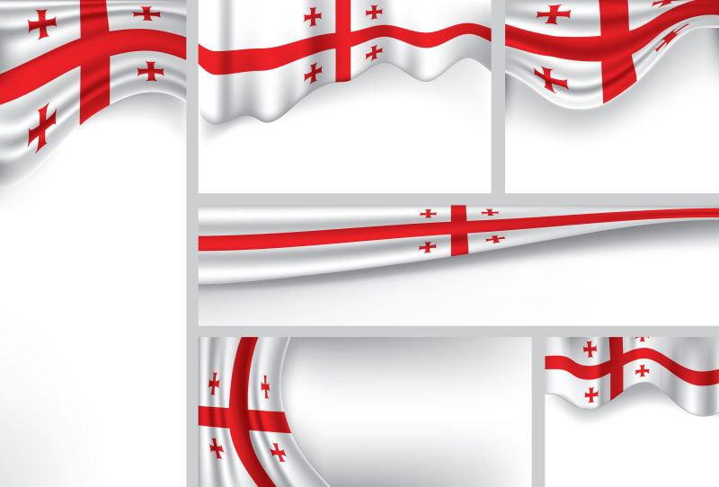 格鲁吉亚国旗矢量设计