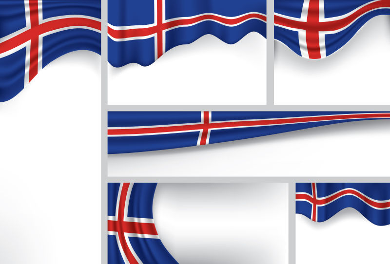 矢量的冰岛国旗