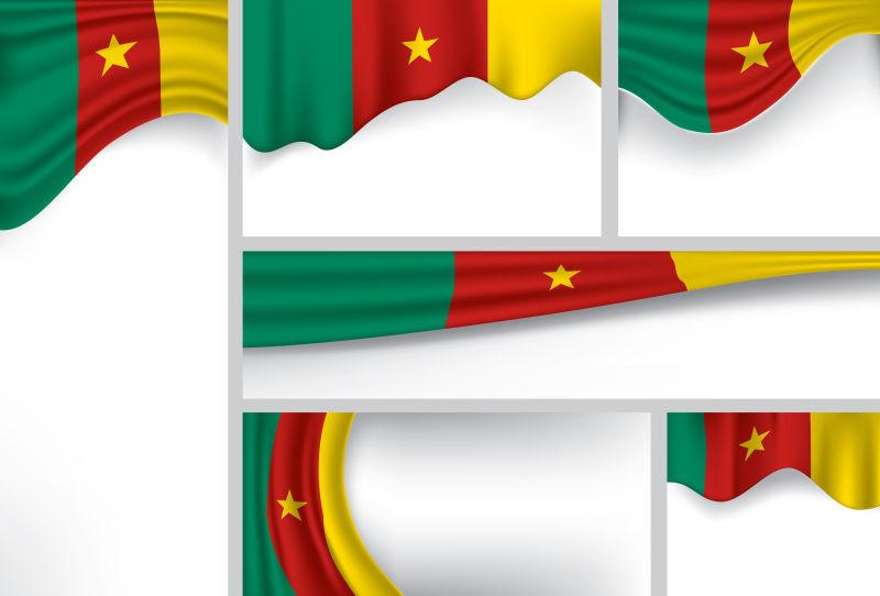 矢量喀麦隆国旗