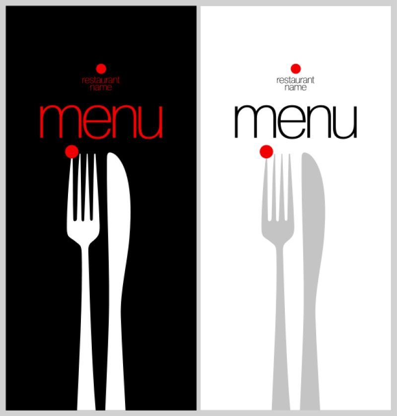 简约风格的菜单矢量设计