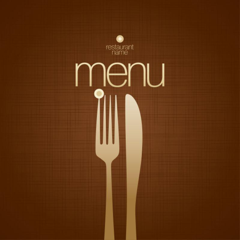 餐具图案的矢量菜单设计