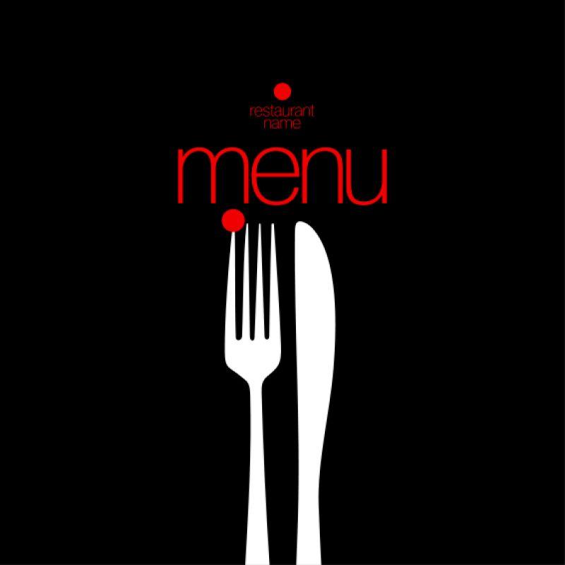 黑色的餐厅菜单矢量设计