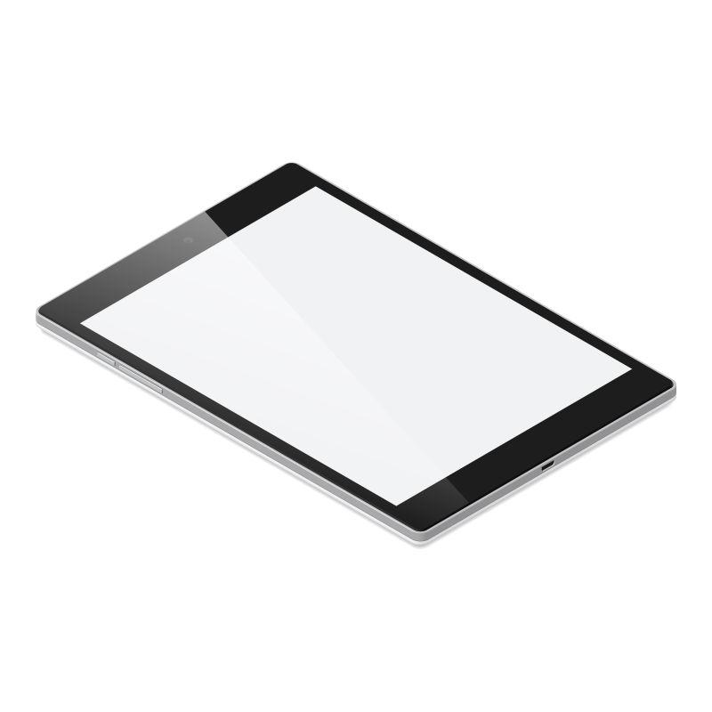 矢量平板电脑插图