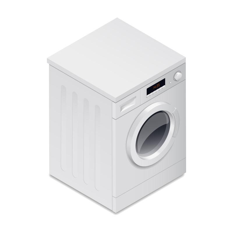 矢量洗衣机插图