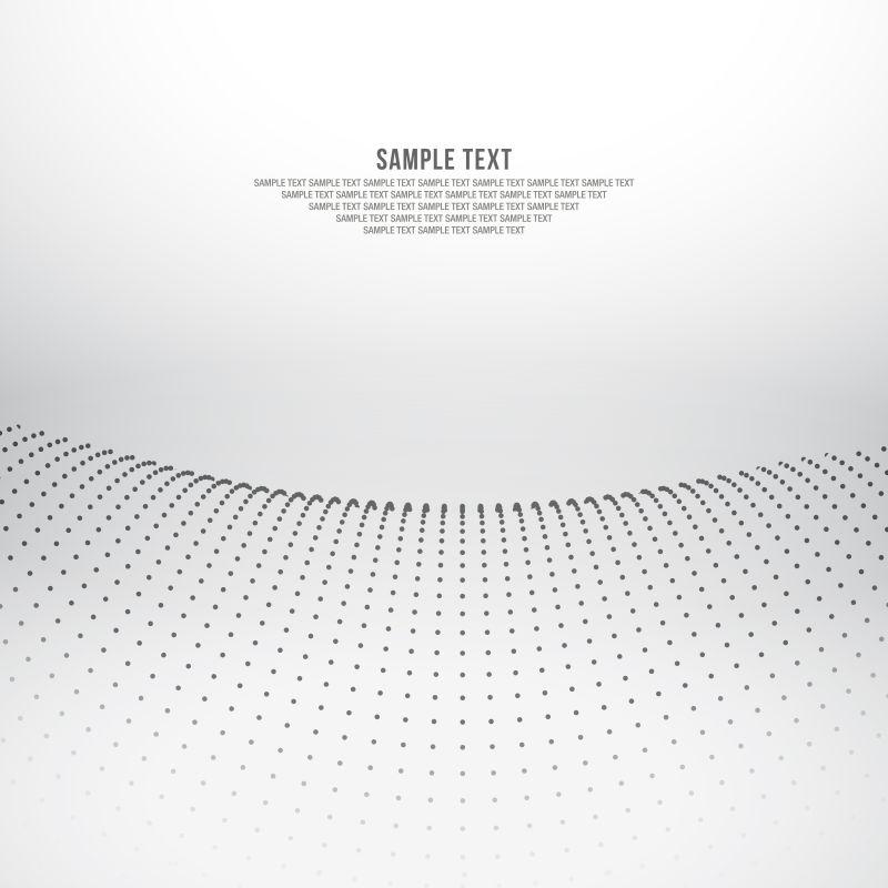 抽象的灰色点状背景矢量设计
