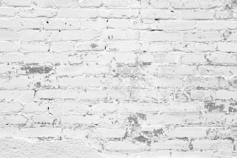 有裂缝和裂缝砖墙结构
