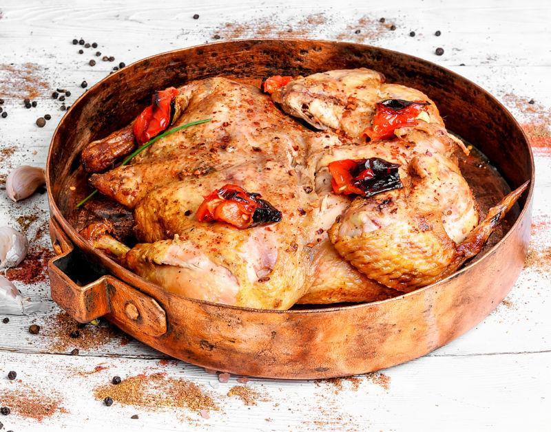 铜锅烤鸡和调料