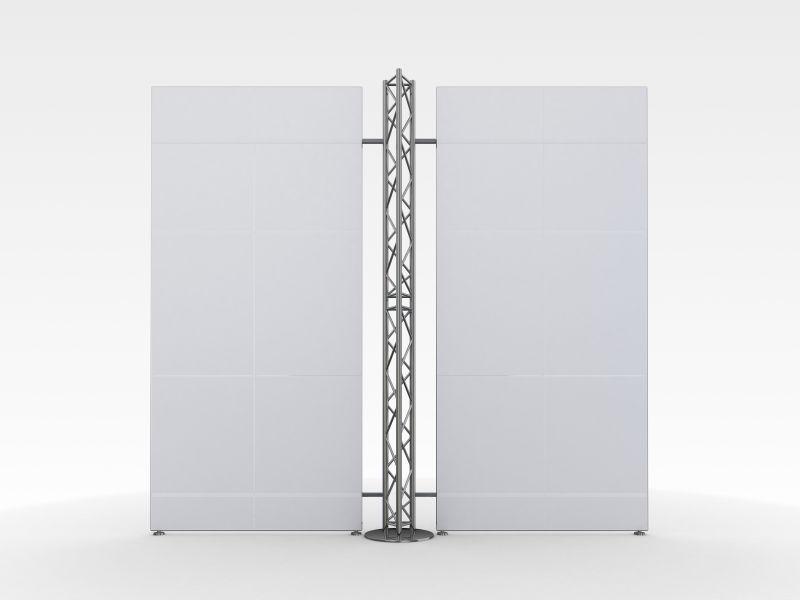 白色背景上的空白广告展示牌