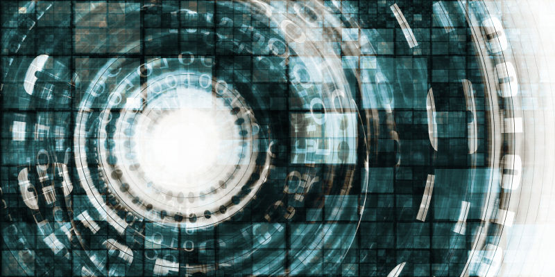 技术产业彩色抽象背景