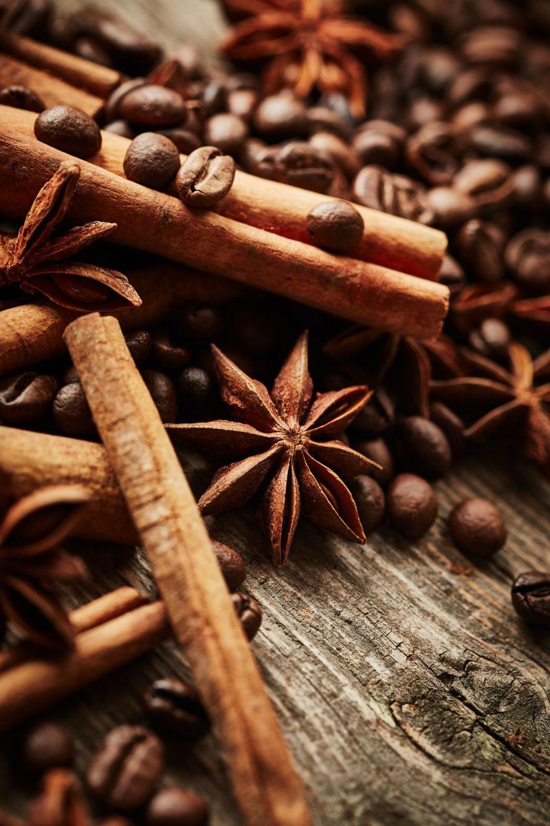 咖啡咖啡豆和香料