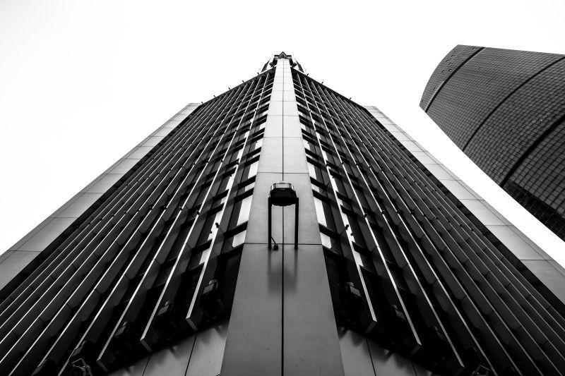 城市里的摩天大厦