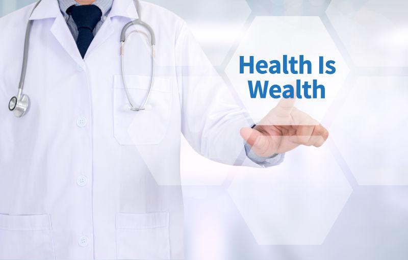 倡导健康就是财富的医生