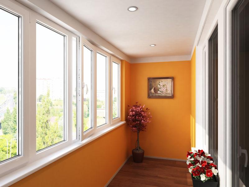 阳台上窗户的图像