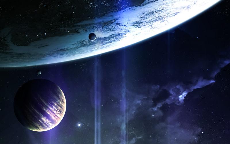 太空中的各种行星