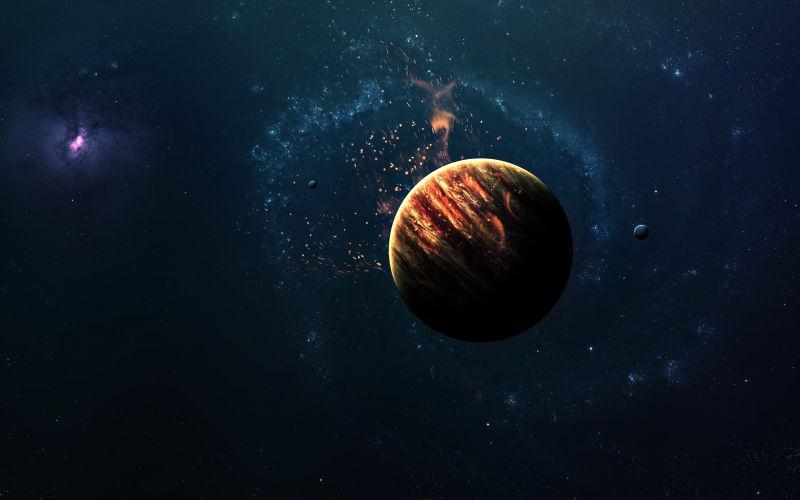 宇宙太空中的行星