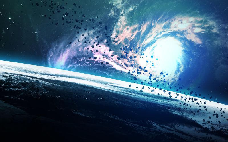 太空中的星云景象