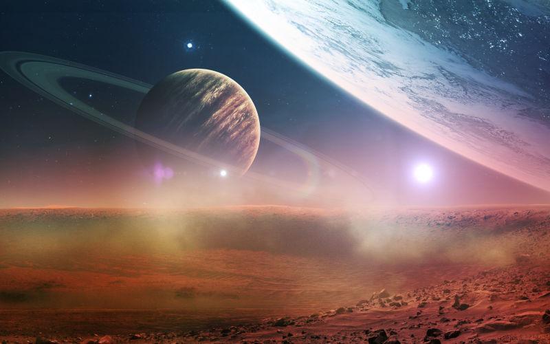 宇宙星河中的行星