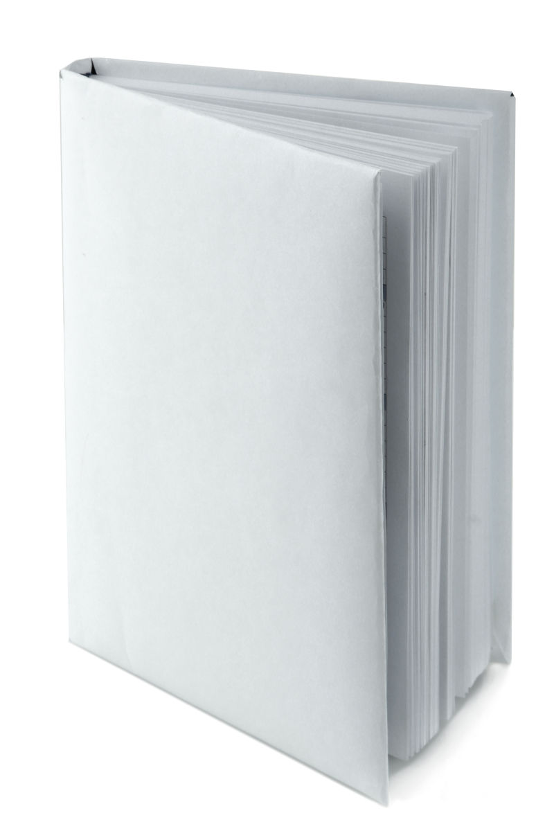 白色背景上的一本白色书籍