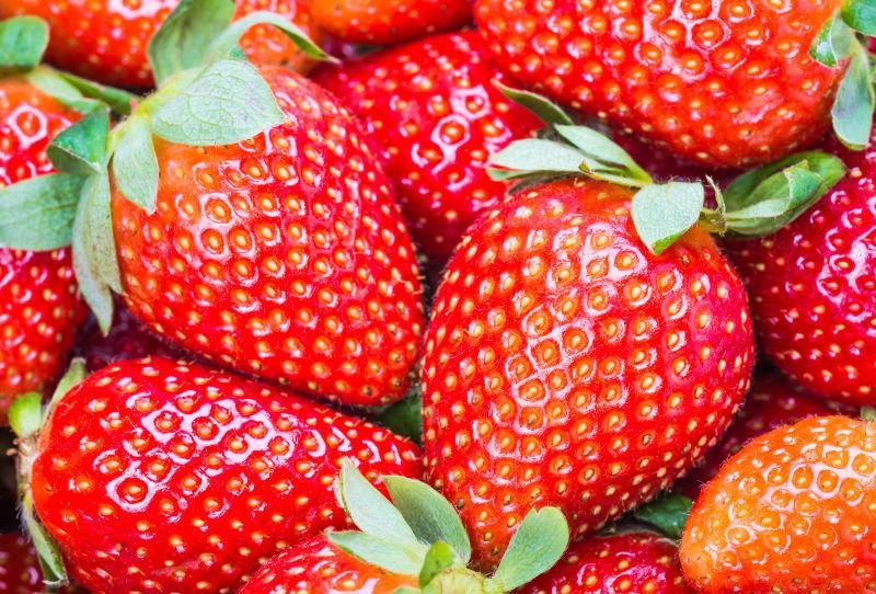 新鲜红的草莓