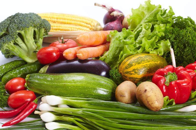 很多的新鲜健康蔬菜