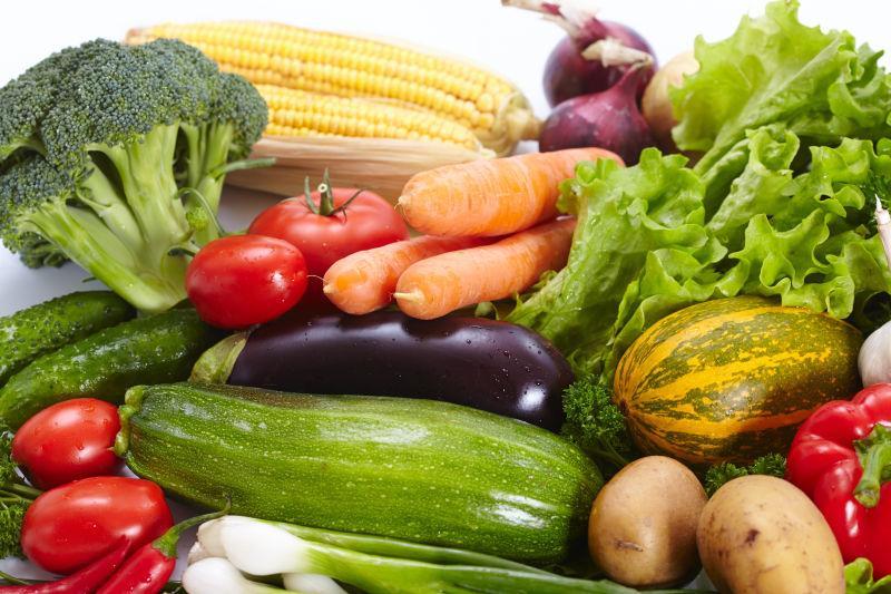 不同品种的新鲜健康蔬菜