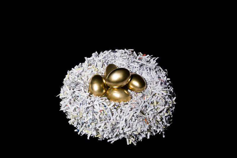 碎纸巢里的金蛋