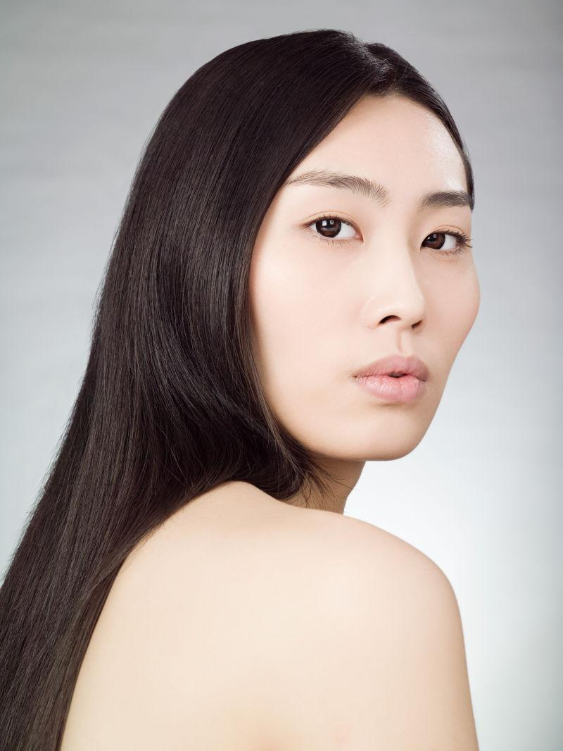 中国美女的肖像