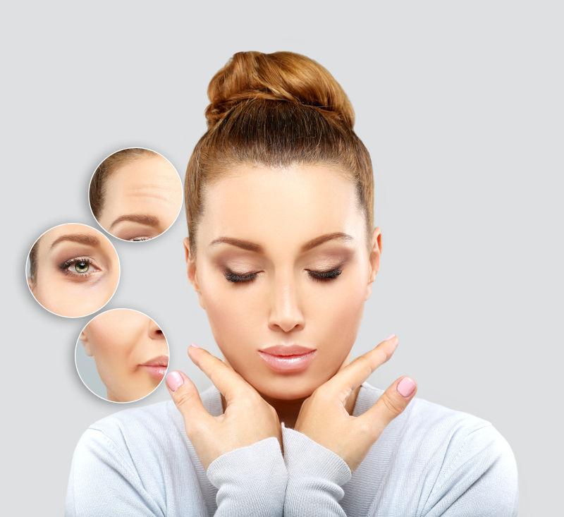 成熟女性的老化皮肤