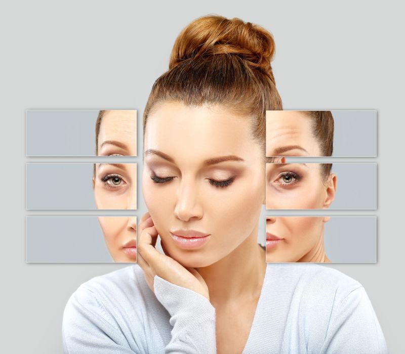 成熟女性面部老化皮肤问题