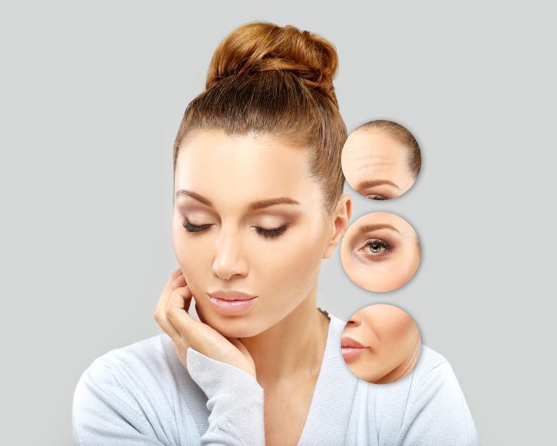 成熟女性面部皮肤问题