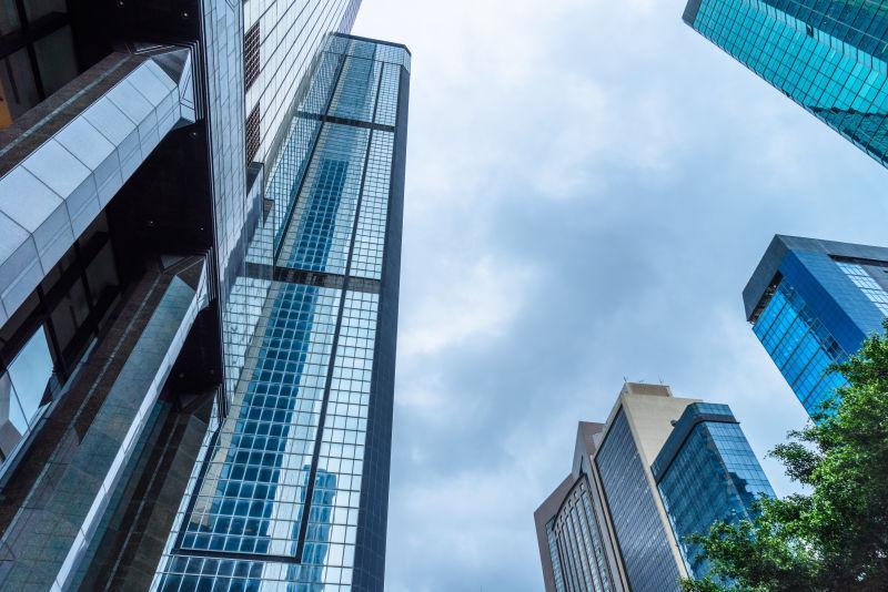 现代建筑的摩天大楼