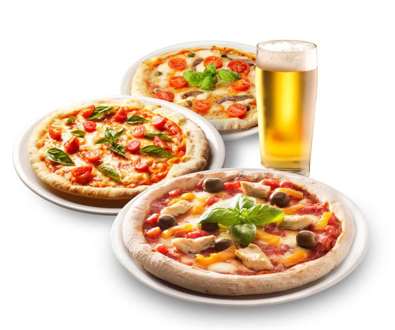啤酒加披萨