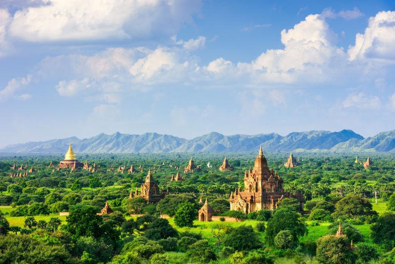 位于考古区的缅甸寺